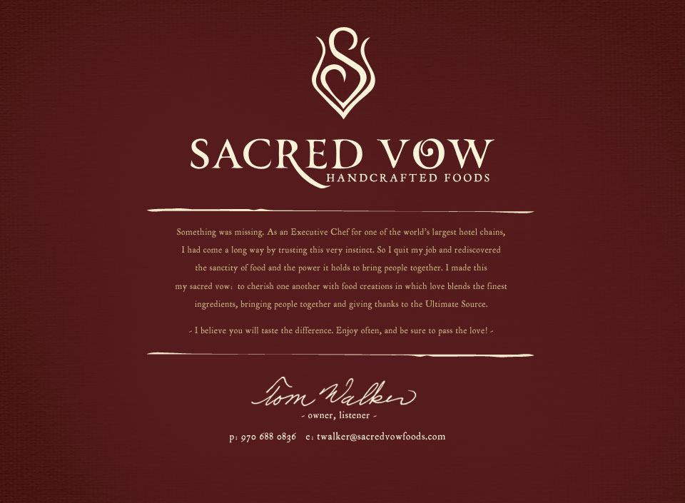 Sacred Vow Foods